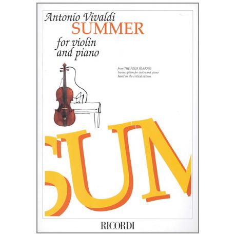 Vivaldi, A.: Der Sommer - Konzert in g-moll op.8 Nr.2 RV315