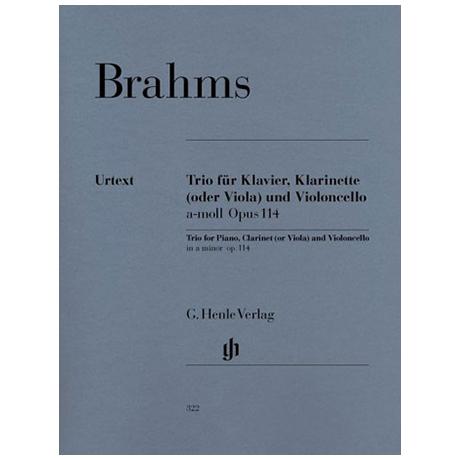 Brahms, J.: Klarinettentrio a-Moll, Op. 114 Urtext