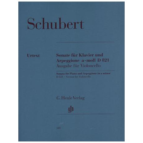 Schubert, F.: Arpeggione-Sonate, D 821 Urtext