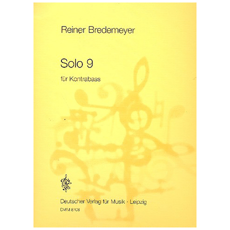 Bredemeyer, R.: Solo 9 (1985)