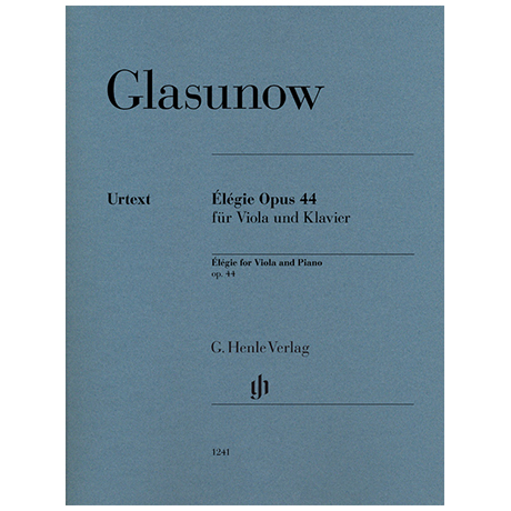 Glasunow, A.: Élégie Op.44