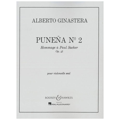 Ginastera, A.: Punena Nr. 2 Op. 45 - Hommage à Paul Sacher