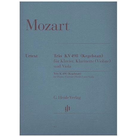 Mozart, W.A.: Klaviertrio Es-Dur KV 498 (Kegelstatt-Trio) Urtext - Kegelstatt-Trio