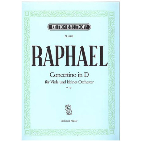 Raphael, G.: Concertino in D o.Op.