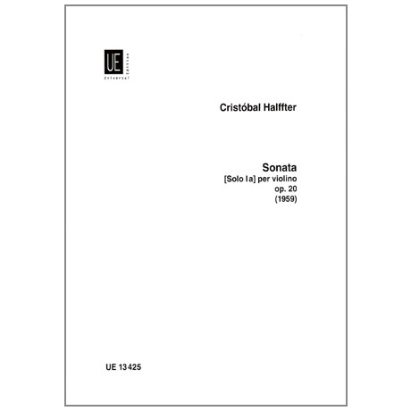 Halffter, C.: Sonate Op.20