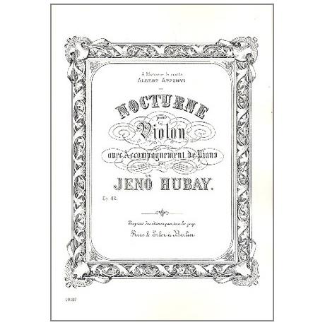 Hubay, J.: Nocturne op. 42