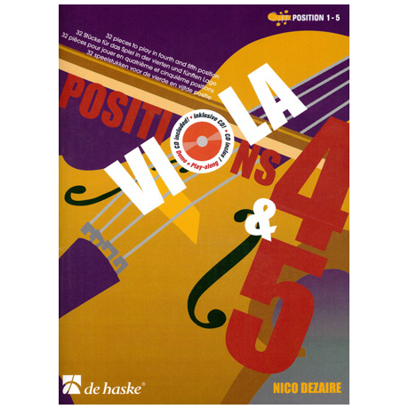 Dezaire, N.: Viola Positions 4-5 (+CD)