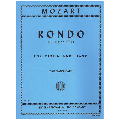 Mozart, W. A.: Rondo KV 373 C-Dur