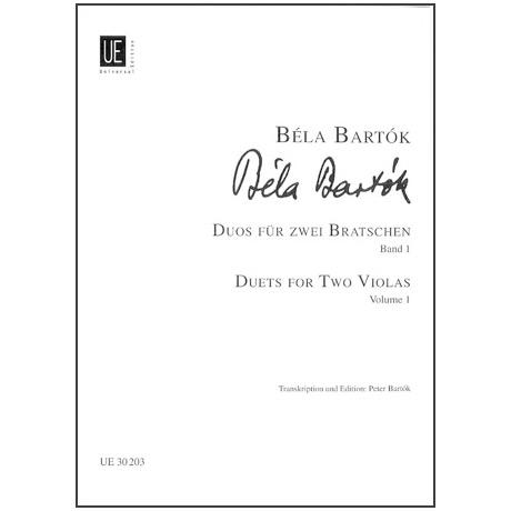 Bartók, B.: Duos aus den 44 Duos für 2 Violen Bd. 1