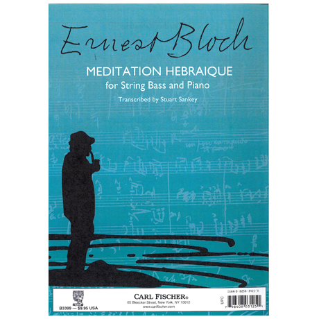 Bloch, E.: Meditation Hebraique