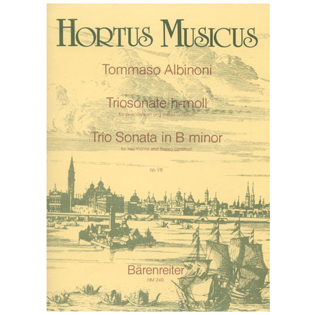 Albinoni, T.: Triosonate h-Moll Op. 1,8