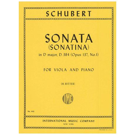 Schubert, F.: Sonatine in D-Dur op. 137