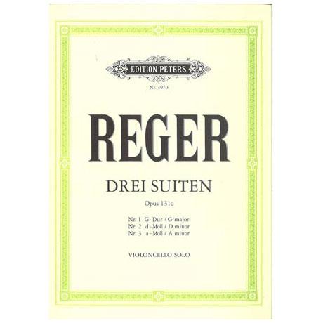 Reger, M.: 3 Cello-Suiten Op. 131c G-Dur, d-Moll, a-Moll