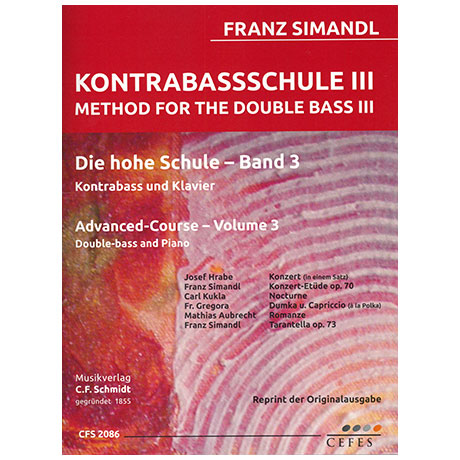 Simandl, F.: Kontrabassschule III - Die hohe Schule Band 3