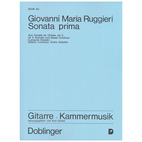 Ruggieri, G. M.: Sonata prima e-Moll Op. 3