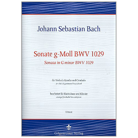 Bach, J. S.: Kontrabasssonate g-Moll BWV1029