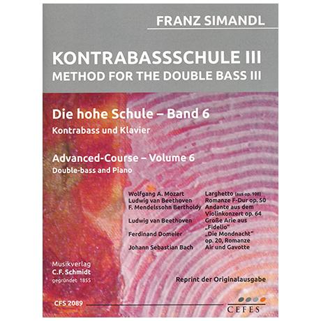 Simandl, F.: Kontrabassschule III - Die hohe Schule Band 6