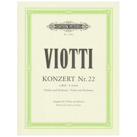 Viotti, G. B.: Violinkonzert Nr. 22 a-Moll