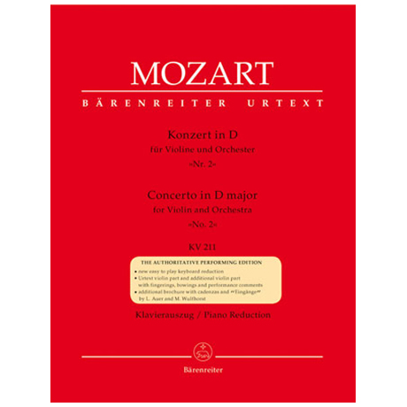 Mozart, W.A.: Konzert in D-Dur (Nr.2) KV 211