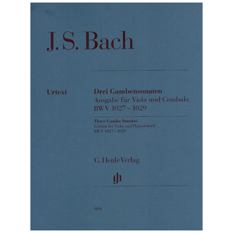 Bach, J. S.: 3 Violasonaten BWV 1027-1029