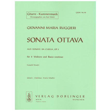Ruggieri, G.M.: Sonata ottava G-Dur Op.3
