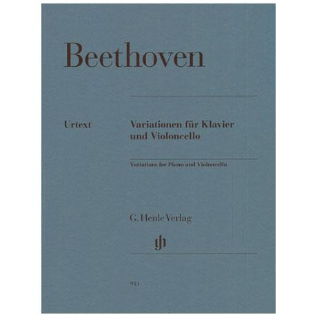 Beethoven, L.v.: Variationen (Judas M.; Ein Mädchen...; Bei Männern...) Urtext