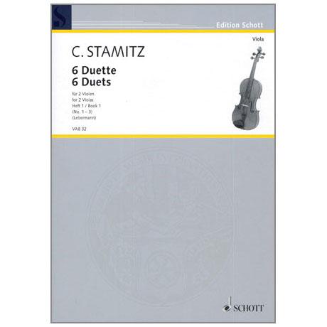 Stamitz, C.: 6 Duette Band 1 (Nr.1-3)