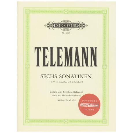 Telemann, G. Ph.: 6 Violinsonatinen (+CD)