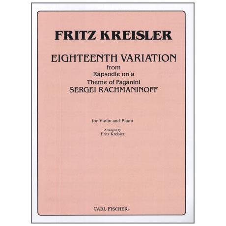 Rachmaninow, S. / Kreisler, F.: Eighteenth Variation from Rhapsody on a theme of Paganini