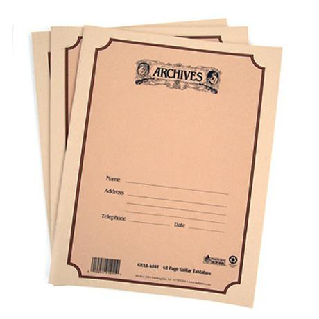 ARCHIVES Notenbuch