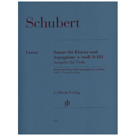 Schubert, F.: Arpeggione-Sonate a-Moll, D 821 Urtext
