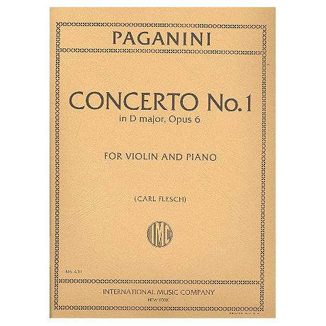 Paganini, N.: Violinkonzert Nr. 1 Op. 6 D-Dur (Flesch)