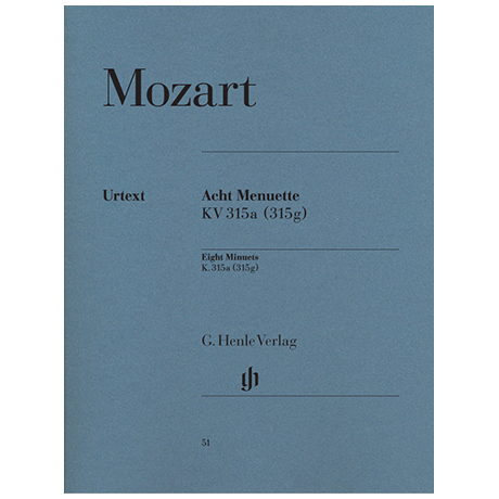 Mozart, W. A.: Acht Menuette KV 315a