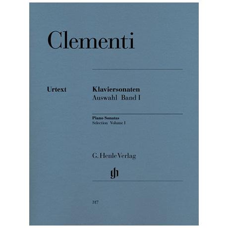 Clementi, M.: Klaviersonaten Auswahl Band I 1768-1785
