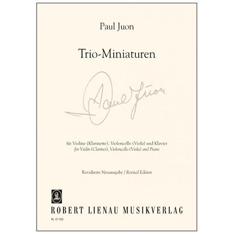 Juon, P.: Trio-Miniaturen