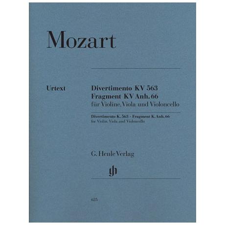 Mozart, W.A.: Streichtrio Es-Dur, KV 563 Urtext
