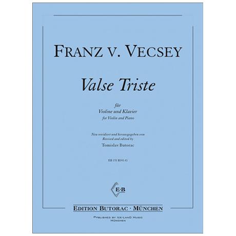 Vecsey, F. Valse Triste
