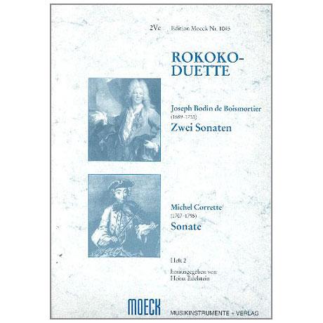 Boismortier, J. B. de / Corette, M.: Rokoko-Duette Band 2: 2 Sonaten