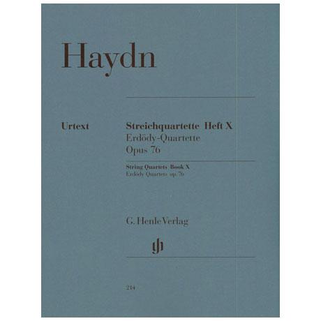 Haydn, J.: Streichquartette Heft 10: Op. 76/1-6 (Erdödy-Quartette)
