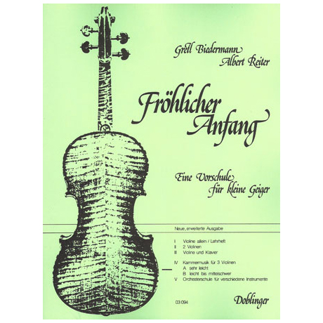 Fröhlicher Anfang – Band 4 A