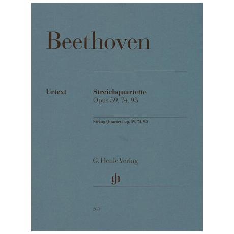 Beethoven, L.v.: Streichquartette Op. 59/1-3, 74, 95 Urtext