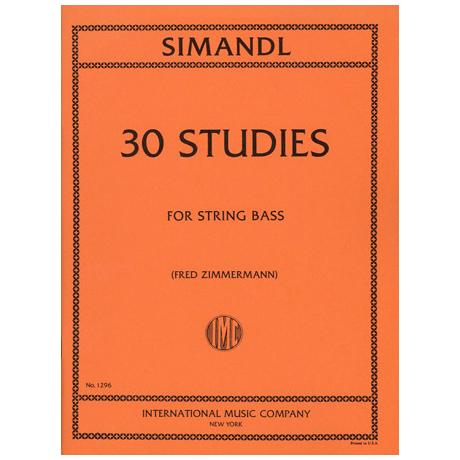 Simandl, Franz: 30 Studies for the Development of Tone