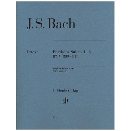 Bach, J. S.: Englische Suiten 4-6 BWV 809 – 811
