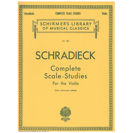 Schradieck, Henry: Complete Scale Studies For The Violin