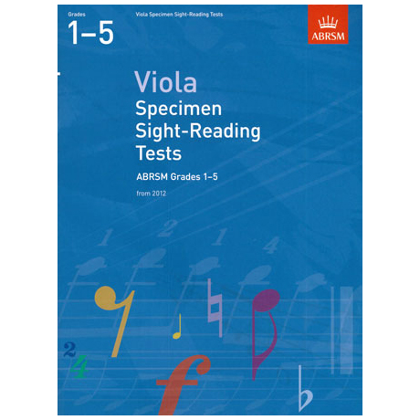ABRSM: Viola Specimen Sight-Reading Tests - Grades 1-5 (From 2012)