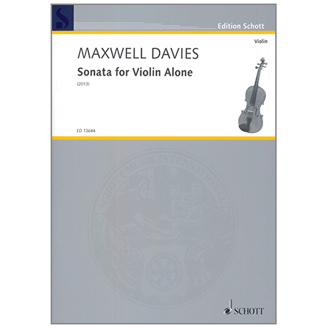 Davies, P.M.: Sonata for Violin Alone