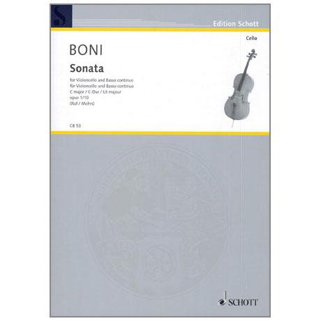 Boni, P. G. G.: Sonata C-Dur Op.1 Nr.10
