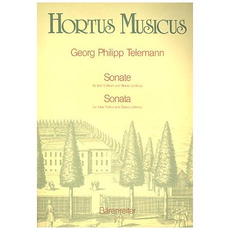 Telemann, G.P.: Sonate B-Dur Anhang 43:B1