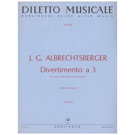 Albrechtsberger, A.: Divertimento a tre F-Dur