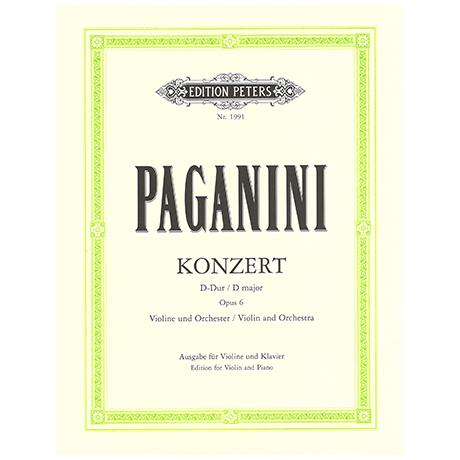 Paganini, N.: Violinkonzert Nr. 1 D-Dur, op. 6